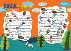 SYLVA FRANCOVÁ: Kreslené pohádky Farm Animals, Animals And Pets, Projects For Kids, Kindergarten, Bullet Journal, Classroom, Education, Logos, School
