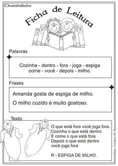 Resultado de imagem para FICHA DE LEITURA COM QU