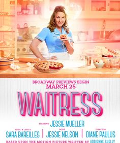 Previews begin March 25, 2016 on Broadway.  Featuring music & lyrics by Sara Bareilles. 3/27-4/23, $49 // 4/26-5/29, $59 with code MAIL1 on Ticketmaster