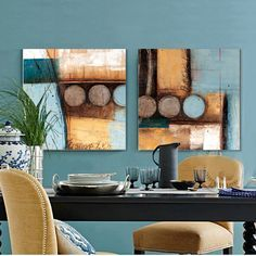 Find More Painting & Calligraphy Information about Light blue and yellowish brown circles modern abstract painting decorative artist canvas wall art free shipping for home office,High Quality art supplies painting,China art flower Suppliers, Cheap art painting classes from WHAT ART on Aliexpress.com