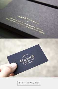 FPO: Monks & Co. Tasmanian Barbershop Business Cards - created via…
