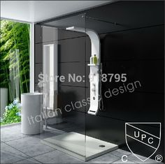 Thermostatic Solid surface stone shower panel wall mounted shower column Body massage Jets Sprinkler RS0039