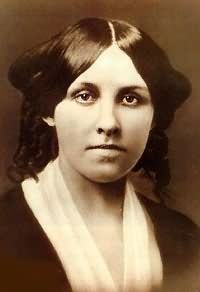 Louisa May Alcott, beloved American writer, was about 25 years old in this picture. She wrote Little Women. Alcott became an advocate for women's suffrage and was the first woman to register to vote in Concord, Massachusetts, in a school board election. She also was an abolitionist.