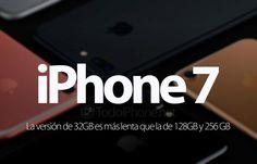 iPhone 7 ¿La versión de 32 GB es más lenta que la de 128 GB y 256 GB? http://blgs.co/7Y6i3f