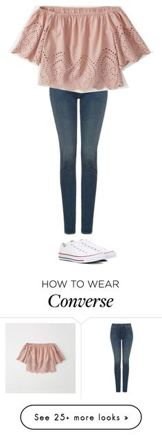 """Untitled #2529"" by laurenatria11 on Polyvore featuring NYDJ, Abercrombie & Fitch and Converse"