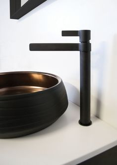 M A R T I N I Extended Basin Mixer in Full Matte Black Basin Mixer, Matte Black, Martini, Bathroom Ideas, Chrome, Martinis, Decorating Bathrooms