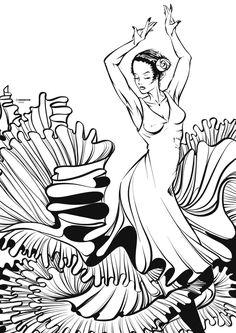 Flamenco linework by CrisVector @ DeviantArt