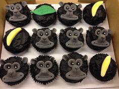 Gorilla cakes for my boss! Cupcake Birthday Cake, Birthday Cake Toppers, Boy Birthday, Cupcake Cakes, Birthday Parties, Happy Birthday, King Kong, Shopkins Cake, Animal Cupcakes