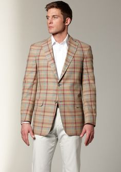 Hart Schaffner Marx Men's Spring Plaid Sportcoat - this were a 44L I'd buy it for J all day long! I love the spring plaid and it's still selling on the Hart Schaffner Marx website for five hundred bucks! it's on ebay with tags for one eighty!