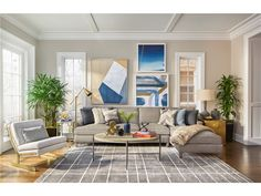 Jeff Lewis SELECTIONS SECTIONAL LIVING ROOM from Walter E. Smithe Furniture + Design