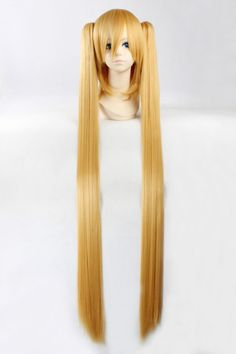 120cm Gold Long Straight Hair Cosplay Costume Wig,2*120cm Chip Ponytails Black Women Wigs http://www.adepamaket.com/products/120cm-gold-long-straight-hair-cosplay-costume-wig2120cm-chip-ponytails/ US $27.80    #adepamaket