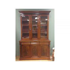 Desks & Bookcases Victorian Mahogany 3 Door Glazed Bookcase