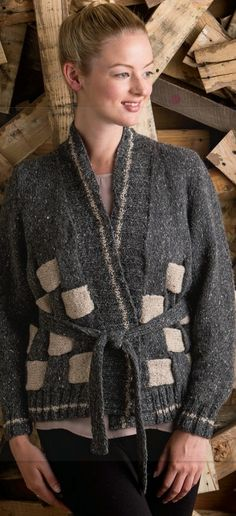 00603a06b1d0f6 Ravelry  Woven Cardigan pattern by Karen Bourquin