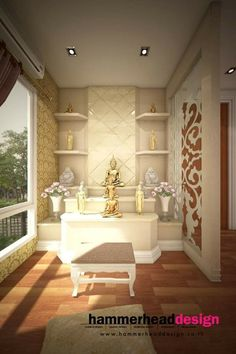 Puja Room, Prayer Room, Temple Room, Relax Room, Ethnic Decor, Smart House,  Meditation Space, Fire Places, Houzz Part 91