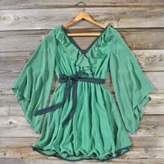 Mystic Forest Dress, Sweet Women's Bohemian Clothing -- definitely wear it as a shirt!