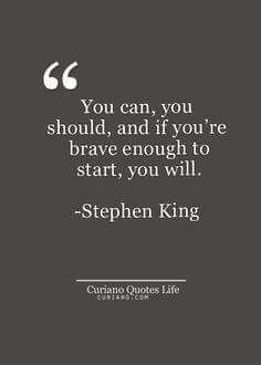 What great inspiration from Stephen King. If this rings true for you, visit brittanybaker.m.network/opportunity