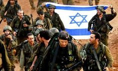 Soldier's of Israel holding the Israel flag