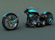 Kustom Motorcycle - bike, motorcycle, chopper, harley