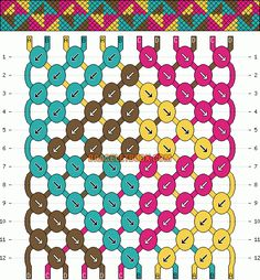 Normal Friendship Bracelet Pattern #2245 - BraceletBook.com
