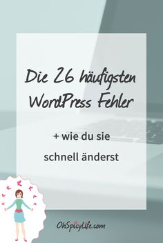 Egal ob Anfänger oder erfahrene WordPress Nutzer, es gibt typische Fehler, die… - Tap the link to shop on our official online store! You can also join our affiliate and/or rewards programs for FR Web Design, Hosting Company, Business Inspiration, Wordpress Plugins, Make Money Blogging, Blog Tips, Internet Marketing, Inbound Marketing, Affiliate Marketing