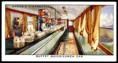 Cigarette Card - Railway Buffet Car by cigcardpix, via Flickr