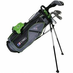 Best Golf Bags | US Kids 2017 Golf Ultra Light 5 Club Carry Golf Set with Bag GreyGreen Right Hand 57 Height *** See this great product. Note:It is Affiliate Link to Amazon.