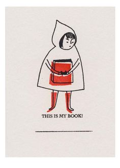 """""""This Is My Book"""" bookplate by Denise Ann Holmes"""