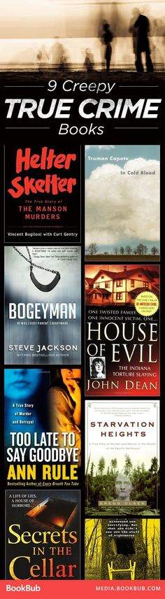 Check out these 9 creepy true crime books worth a read.