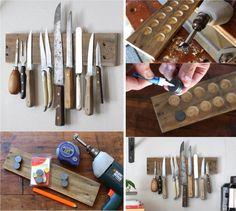 самодельный держатель для ножей
