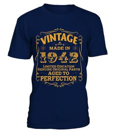 """# 75th Birthday Vintage Made In 1942 T Shirt - Limited Edition .  Special Offer, not available in shops      Comes in a variety of styles and colours      Buy yours now before it is too late!      Secured payment via Visa / Mastercard / Amex / PayPal      How to place an order            Choose the model from the drop-down menu      Click on """"Buy it now""""      Choose the size and the quantity      Add your delivery address and bank details      And that's it!      Tags…"""
