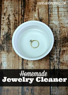 Make your own DIY Homemade Jewelry Cleaner with only 1 ingredient to get your diamond ring sparkling again.