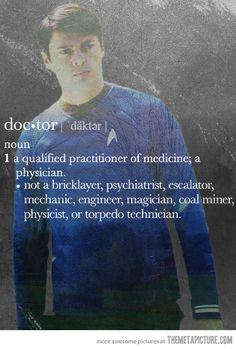 Dr. McCoy…