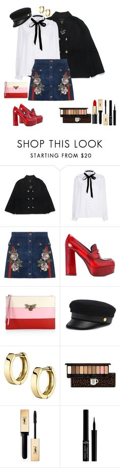 """""""Sans titre #398"""" by adeline-m ❤ liked on Polyvore featuring Henri Bendel, River Island, Gucci, Prada, Etude House, Yves Saint Laurent and Giorgio Armani"""