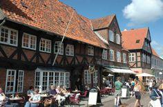 Ribe, la ciudad más antigua de Dinamarca, fundada en el año 860 DC. Dinamarca