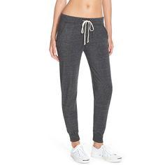 Alternative Fleece Jogger Sweatpants (470 NOK) ❤ liked on Polyvore featuring activewear, activewear pants, eco black, alternative sweatpants, black jogger sweatpants, fleece sweatpants, sweat pants and black sweat pants