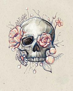 Le plus chaud Photos skull Drawing Astuces Art Drawings Sketches, Cool Drawings, Tattoo Drawings, Pencil Drawings, Art Tattoos, Drawings Of Skulls, Art Mort, Art Du Croquis, Death Art
