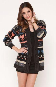 Lovin' Navajo cozy sweaters here in Colorado. PacSun, level 1 has #Kirra Oversized Cardigan