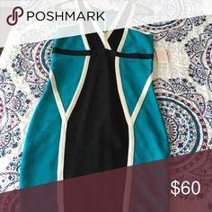 da5b60f282a1fe Slinky color block Venus dress This Venus dress is slinky and fabulous. The  teal
