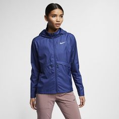 71809e931a8b Nike Essential Women s Packable Running Rain Jacket Size XL (Blue Void)