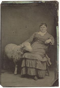 Tintype: Ella Logan Meharry and Her Pet Sheep  Love this! Even though later period of time than Homeplace, shows how important sheep were to the farm family.