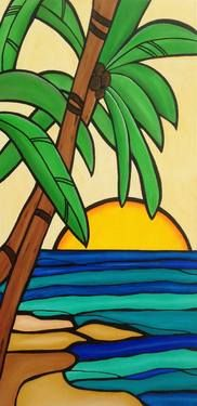 "Saatchi Art Artist Susie Barrett; Painting, ""Hawaiian Sunset"" #art"