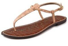 Sam Edelman Gigi Cork T Strap Flat Sandal.
