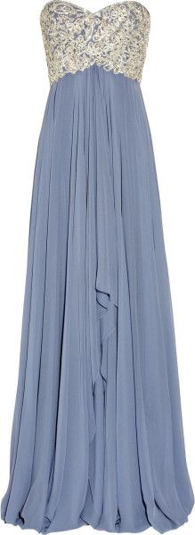 Love this: Embellished Silk-chiffon Strapless Gown @Lyst