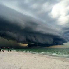 comes the storm....