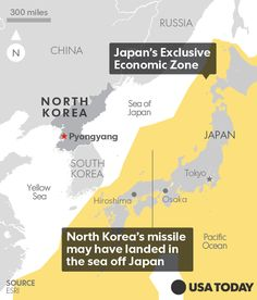 The missile traveled 600 miles and landed west of Japan's island of Hokkaido.