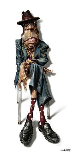 John Lee Hooker by Sebastian Cast