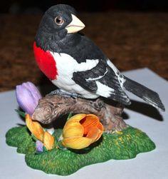 MINTY-Lenox-Porcelain-ROSE-BREASTED-GROSBEAK-Garden-Bird-Collection-Figurine