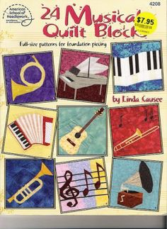 24 Musical Quilt Blocks - Laura alcañiz - Picasa Web Albums...patterns and instructions!!