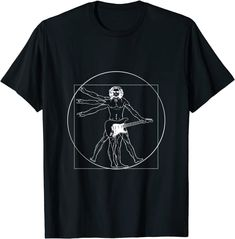 Amazon.com: Funny Vitruvian Man Guitar Music Da Vinci Guitarist T-Shirt: Clothing Amazon T Shirt, Amazon Merch, Branded T Shirts, Pop Art, Fashion Brands, This Or That Questions, Memes, Mens Tops, Funny