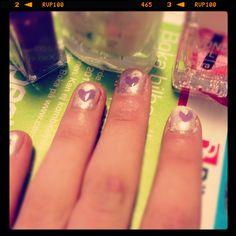 Haha problably my first nail art!